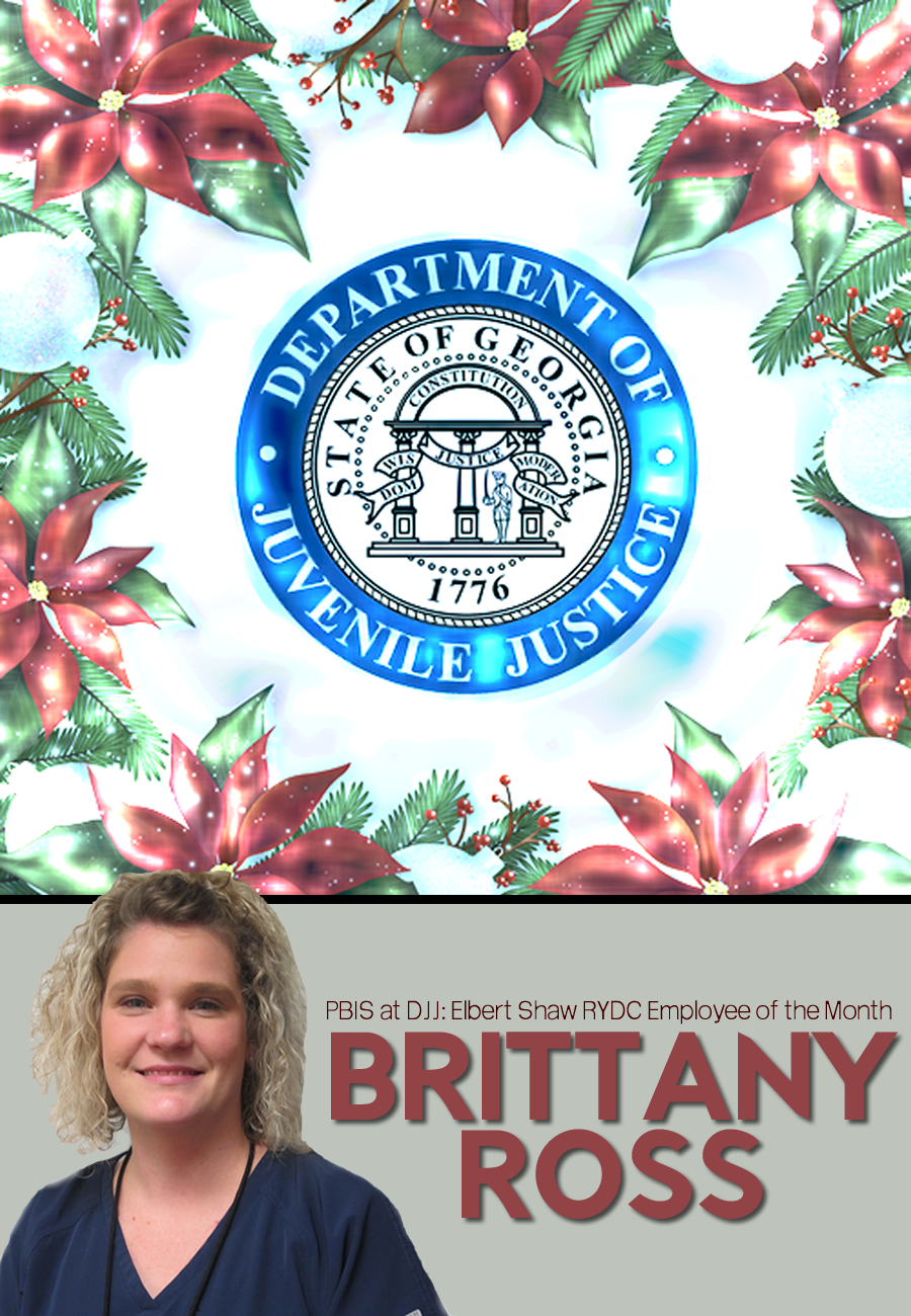 Elbert Shaw RYDC Employee of the Month Brittany Ross