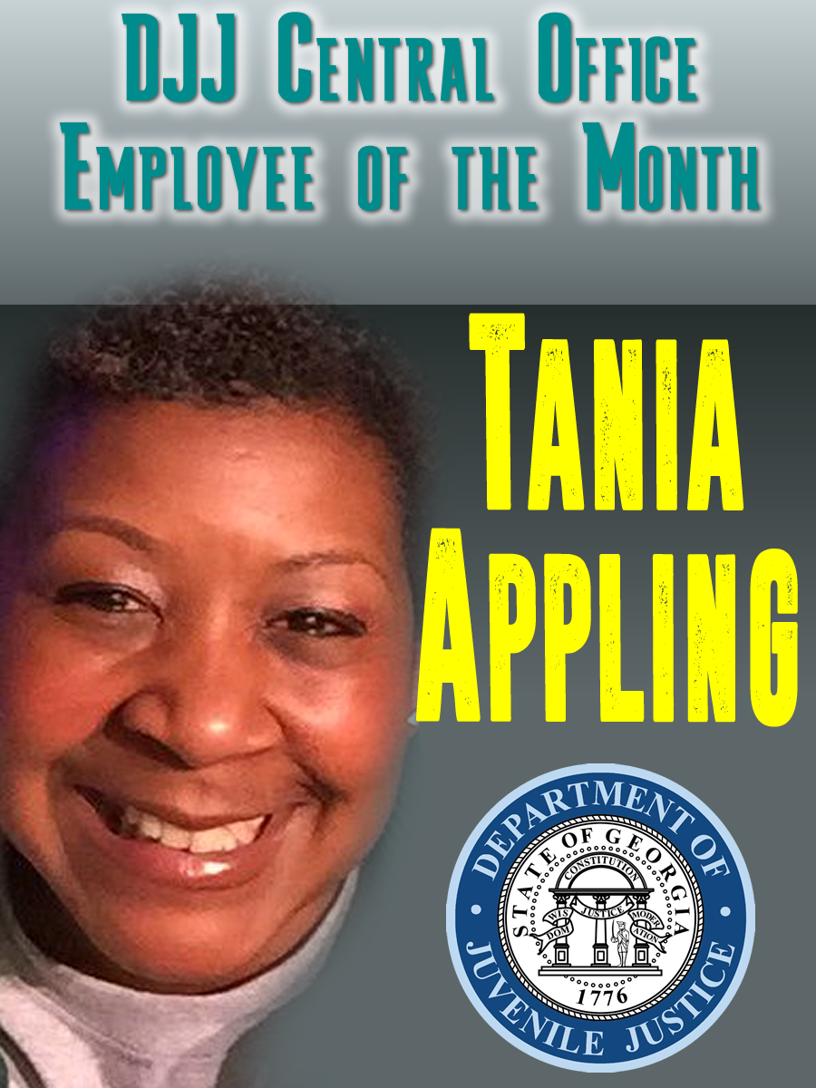 December 2017 Central Office Employee of the Month: Tania Appling