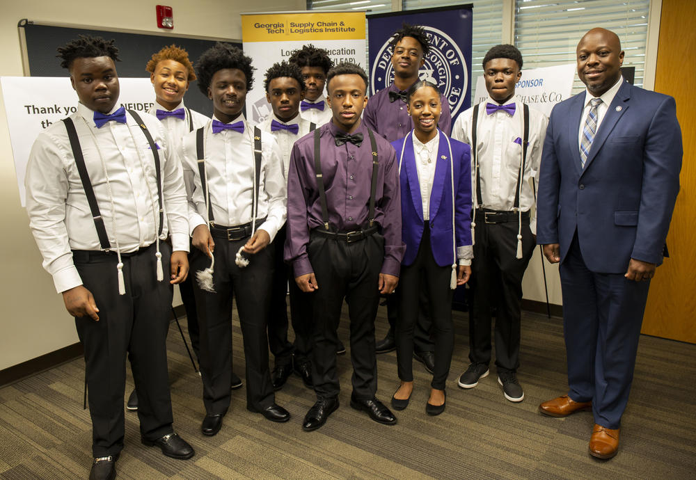 Chatham ETC LEAP Program graduates and student leaders with DJJ Commissioner Tyrone Oliver