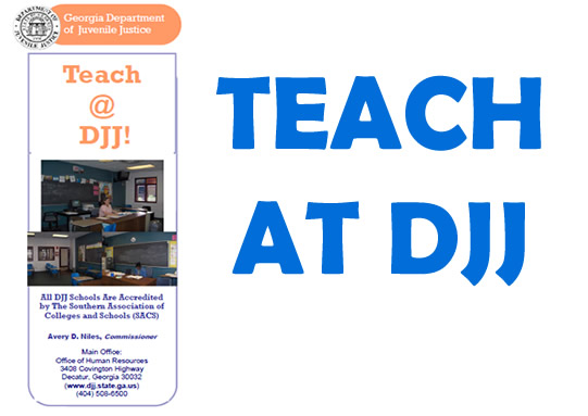 Teaching Jobs at DJJ